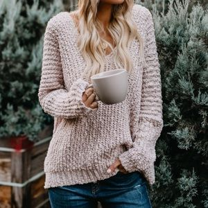 Sweaters - NWT Oversized Off The Shoulder Popcorn Sweater